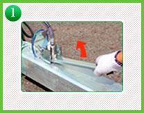 1.水圧が掛かっているフィーメルカプラーを取り外すために使用する