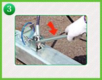 3.水圧が掛かっているメールカプラーに再度フィーメルカプラーを取り付ける