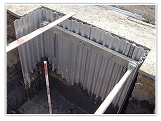 アルミ矢板(セクション付き) 施工事例